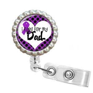For My Dad Awareness Ribbon ID Badge Reel - 2.2